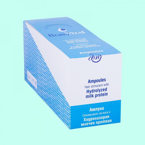 Стимулант за коса с Млечни протеини - 4 ампули по 10мл. 12 кутийки в търговска опаковка.
