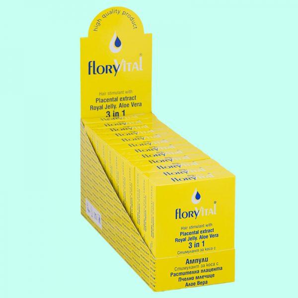 Стимулант за коса 3 в 1 - 4 ампули по 10мл. 12 кутийки в търговска опаковка