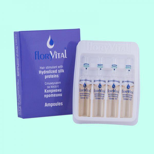 Стимулант за коса с копринени протеини - 4 ампули по 10мл. 12 кутийки в търговска опаковка.